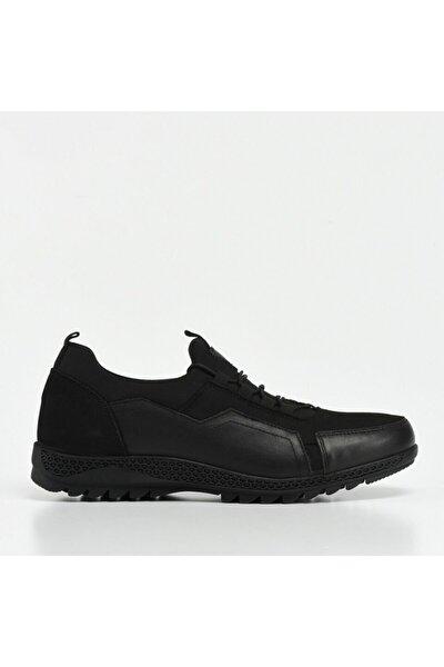 Hakiki Deri Siyah Erkek Spor Ayakkabı