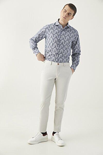 Taş Renk Erkek  Pantolon (Slim Fit)