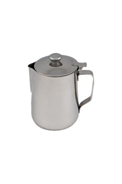 Paslanmaz Çelik Kahve Süt Potu Kapaklı (Pitcher) 500 ml.