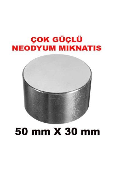 Çok Güçlü Neodyum Mıknatıs 50mm X 30mm