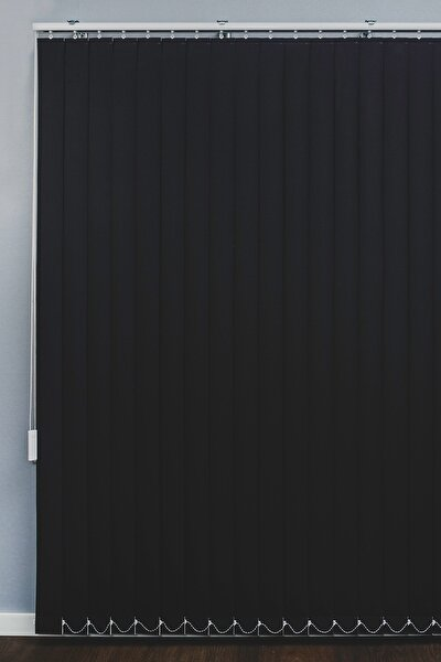 Siyah Karartma Dikey Stor Perde Işık Geçirmez Blackout Perde