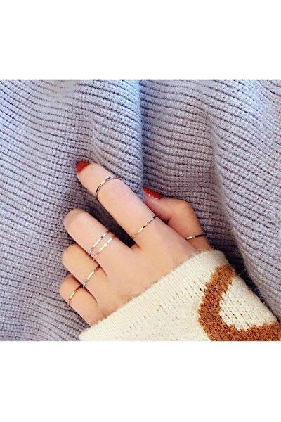 Kadın Minimalist Eklem Yüzüğü Seti
