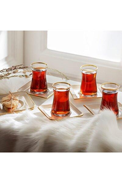 Damla Krem 12 Parça 6 Kişilik Çay Seti