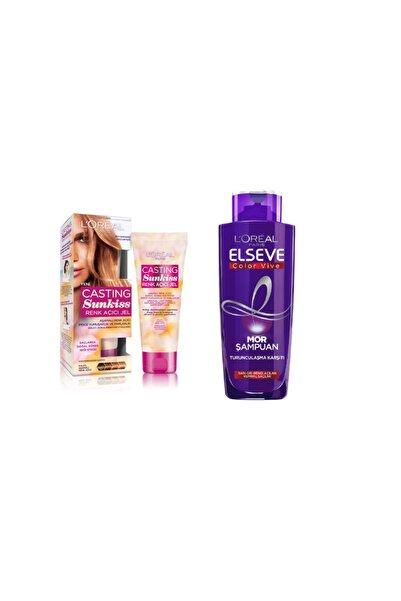 Sunkiss Renk Açıcı Jel + Elseve Turunculaşma Karşıtı Mor Şampuan 200ml Set