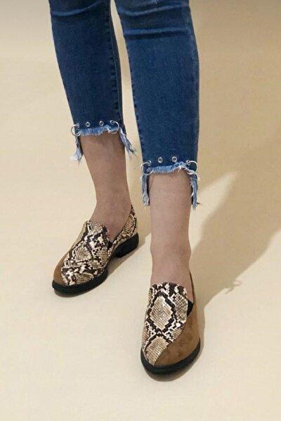 Bayan Spring Taba Günlük Dolgu Ayakkabı
