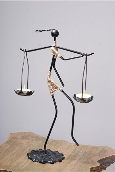 Siyah Dekoratif Mumluk- Kadın Figürlü Mumluk-tealight (Mum) Dahil