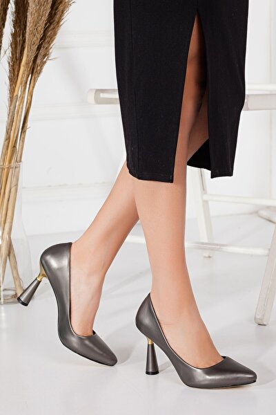 Fascino Kadın Stiletto K.gümüş Topuklu Ayakkabı