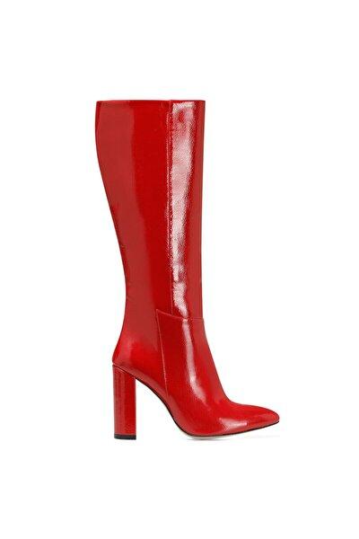 MIMA Kırmızı Kadın Ökçeli Çizme 100582031