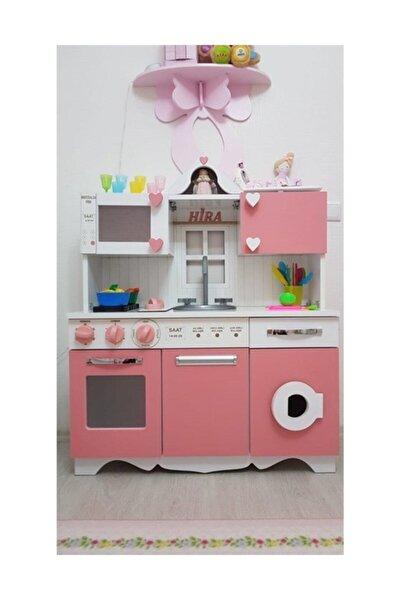 Ahşap Oyuncak Mutfak Pembe Led Aydınlatma Dahil