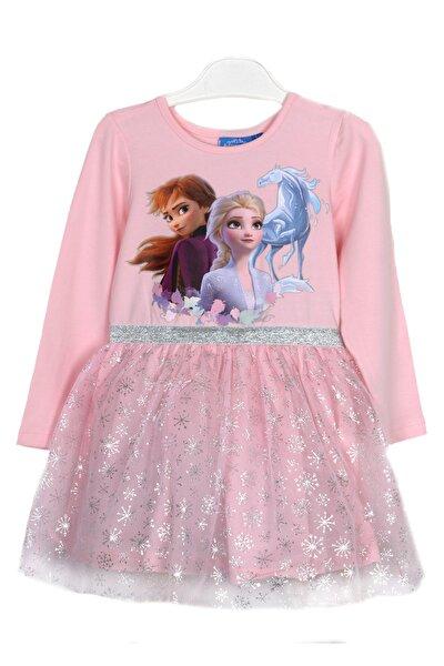 Kız Çocuk Pembe Baskılı Elbise