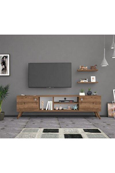 Bena Mobilya Poyraz Ceviz 160 Cm Tv Sehpası Tv Ünitesi