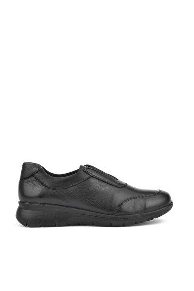 Hakiki Deri Siyah Kadın Ayakkabı 8355 2593