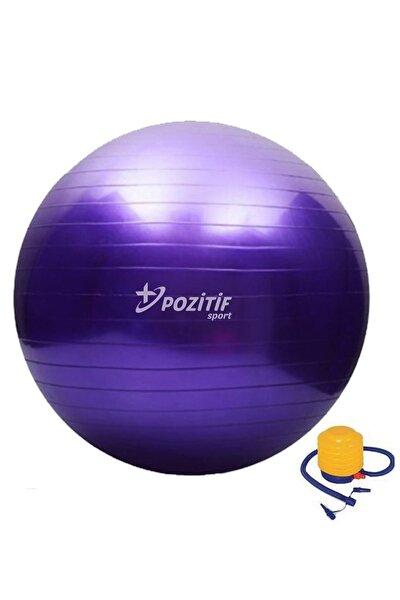 65 Cm Pilates Topu Büyük Boy Kalın Yoga Egzersiz Topu Pompalı
