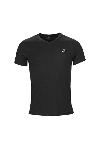 SN222 BASIC V NECK T-SHIR Siyah Erkek T-Shirt 100581588