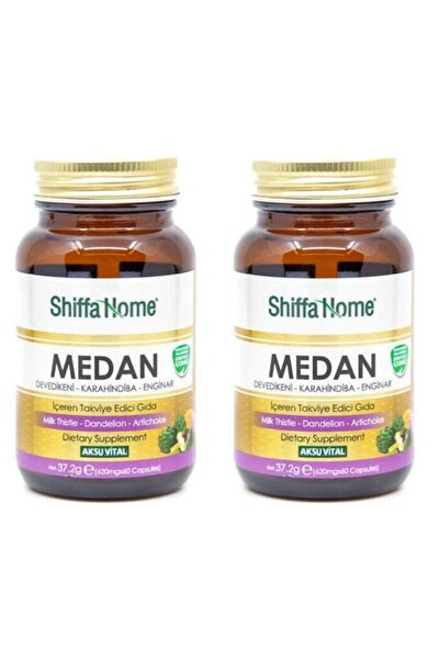 2 Adet Medan Devedikeni-Enginar-Hindiba 620 mg-60 Kapsül