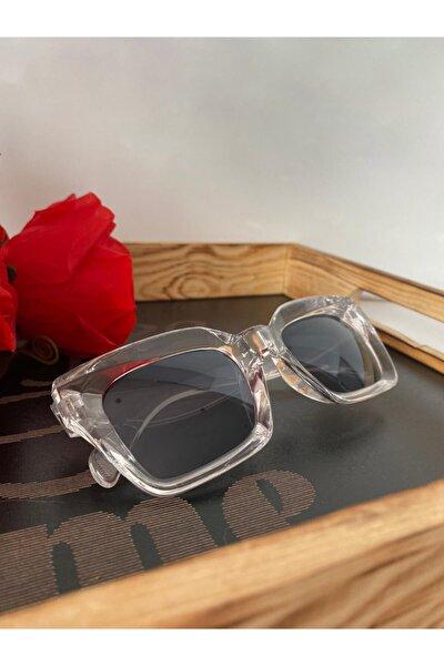 Mia Kalın Çerçeveli Tasarım Gözlük Şeffaf Çerçeve Siyah Cam