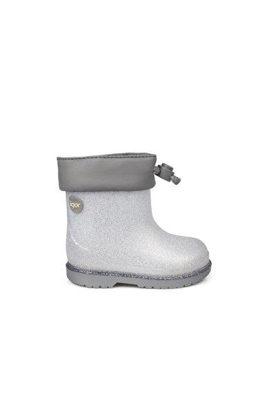 Unisex Çocuk Gri Bımbı Glıtter Silver W10247-135 Çizme