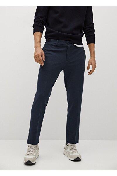 Erkek Lacivert Dar Kesim Koton Pantolon