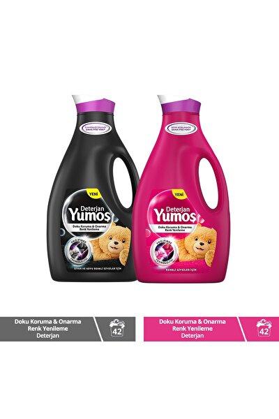 Sıvı Bakım Çamaşır Deterjanı Renkli Giysiler İçin Renk Koruma 2520 ML + Solmayan Siyahlar 2520 ML