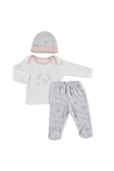 Kız Bebek Yaz Tatlı Tavşanlar Zıbın-şapka-patikli Alt  3lü