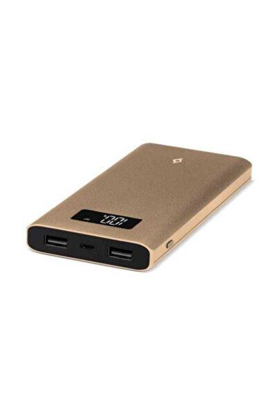AlumiSlim LCD Serisi 10.000mAh Taşınabilir Şarj Cihazı Altın  QC 3.0