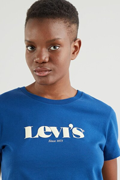 Kadın T-Shirt Mavi