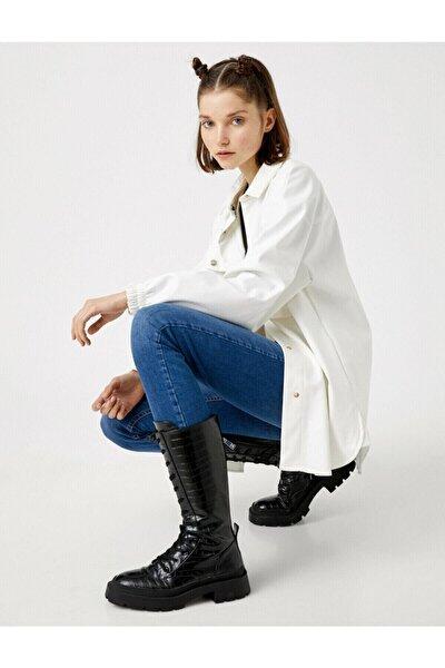Kadın Mavi Pamuklu Skinny Carmen Jean