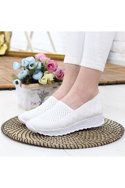 055 Beyaz Günlük Kadın Yürüyüş Ayakkabı