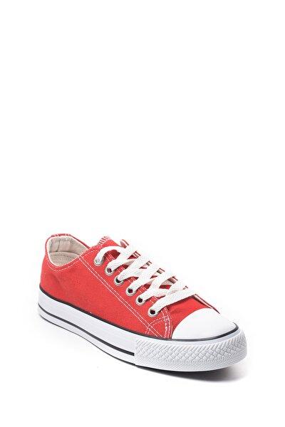 Kadın Kırmızı Keten Sneaker Günlük Spor Ayakkabı 22090