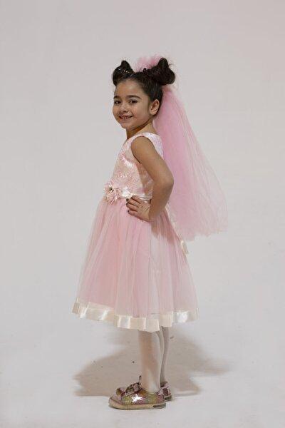 Kız Çocuk Pembe Prenses Elbise