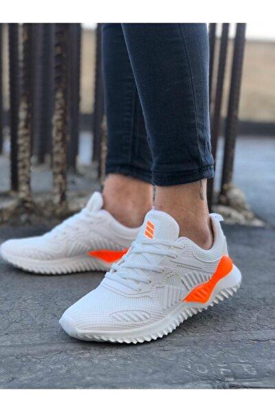 Unisex Beyaz Sneaker Spor Ayakkabı Takax0132