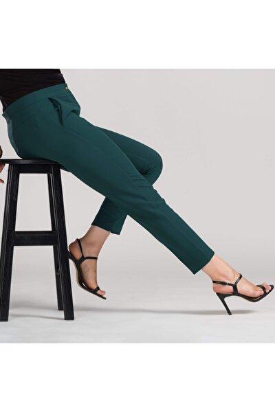 Kadın Yeşil Dar Bilek Pantolon
