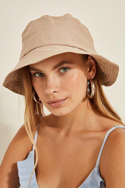 Kadın Bej Bucket Şapka 13372