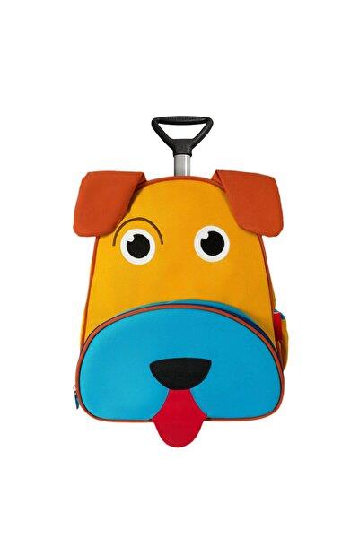 Unisex Çocuk Mavi Çekçekli Köpek Sırt Çantası