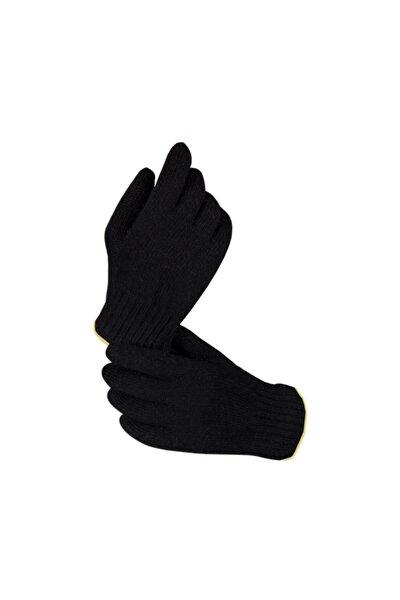 Siyah Kışlık Örgü Unisex Eldiven Xl (10) Beden