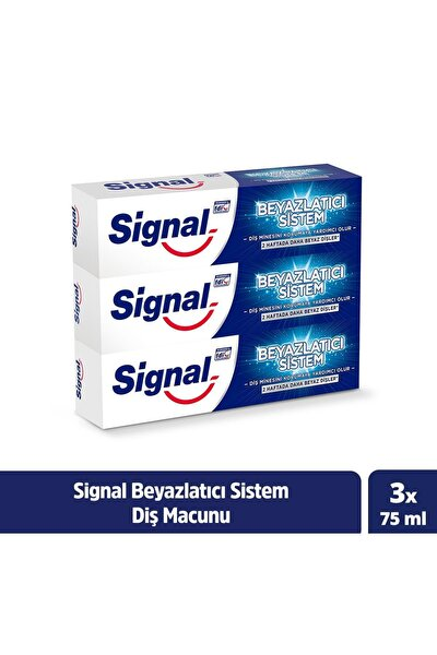 Beyazlatıcı Sistem Diş Macunu 75 ml X3