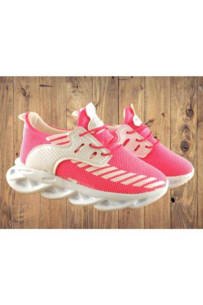 Unisex Çocuk Pembe Rahat Tarz Spor Ayakkabı