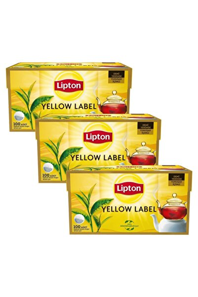 Yellow Label Demlik Poşet Çay 100'lü X 3 Adet