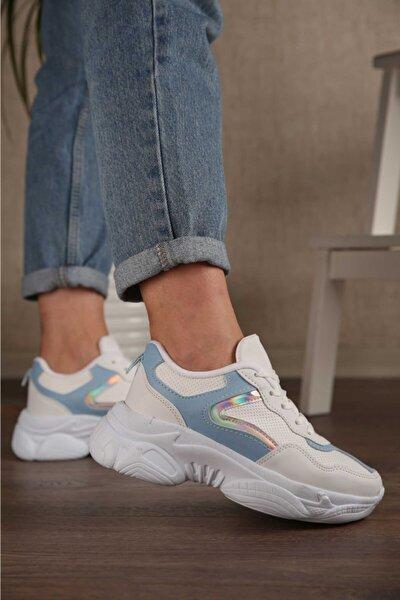 Unisex Beyaz Günlük Sneaker Spor Ayakkabı