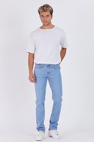 Erkek Açık Mavi Slim Fit Jeans