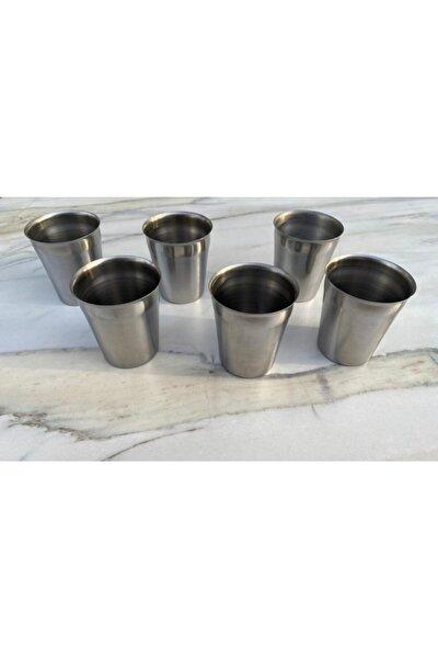 Çelik Su Ve Ayran Bardağı 6 Adet