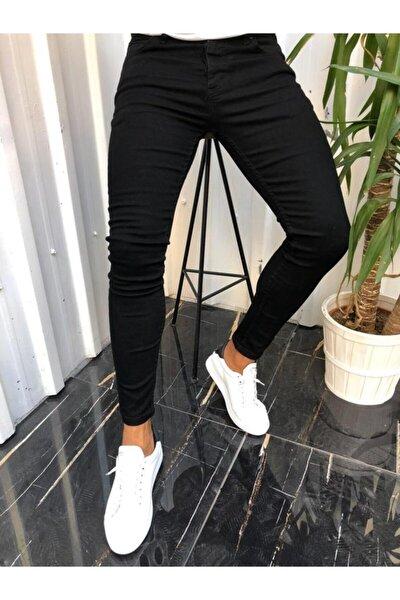 Erkek Siyah Skinny Fit Jeans Pantolon