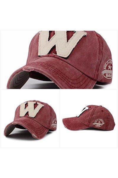 W Şapka Kremit Rengi Ithal Yıkamalı Baseball