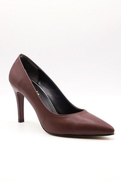 Kadın Bordo Topuklu Ayakkabı 1101