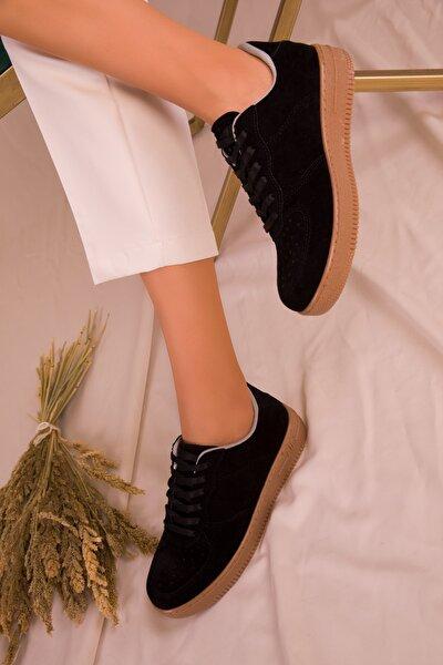 Lacivert Suet Kadın Sneaker 15745