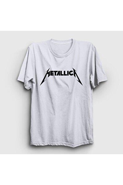 Unisex Beyaz Logo Metallica Tişört 67013tt