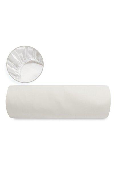 Düz Pamuklu Battal Boy Lastikli Çarşaf 180x200 Cm Kırık Beyaz