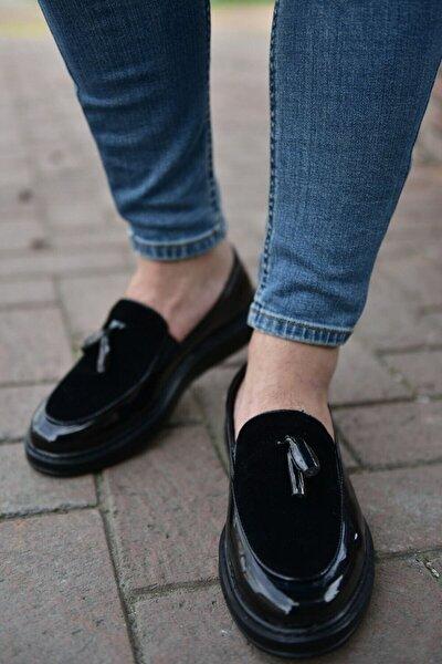 Erkek Siyah Rugan Spor Ayakkabı CH002