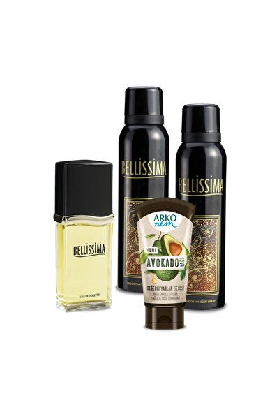 Bellissima Edt 60ml Ve Deodorant 2x150ml Ve Arko Nem Avokado Krem 60ml