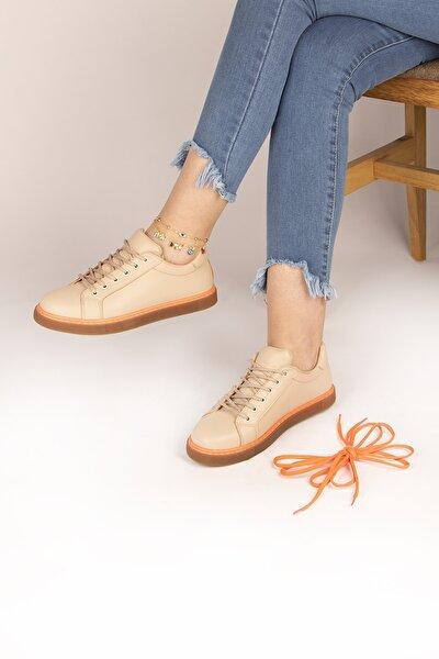 Kadın Krem Günlük Ayakkabı
